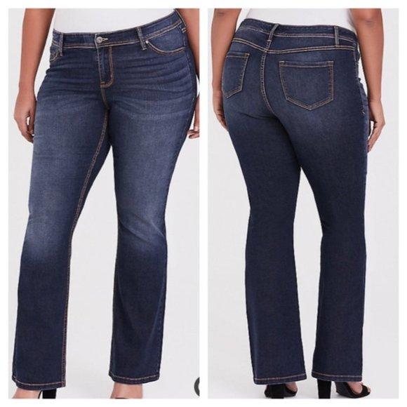 Torrid Barely Boot Dark Wash Jeans 22 X Tall